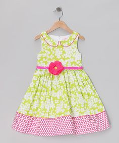 Take a look at this Green Floral Fashion Dress - Toddler & Girls by Bloome on #zulily today!