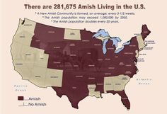 Who Are the Amish? via Mission to Amish People - Amish US Population 2013