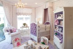 Visitors to our Beverly Hills Store are greeted in this lovely lavender nursery setting.  Design the nursery of your dreams, with custom furniture, fabrics, draperies, carpeting and more all designed by AFK Furniture.  Contact our Beverly Hills Store for information.  (310) 657-6300 #afk #afkfurniture #AFKBeverlyHills