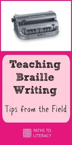 Tips and guidelines to teach braille writing and promote braille literacy among children who are blind or visually impaired Braille Alphabet, Alphabet Writing, Teacher Education, Special Education Classroom, Writing Skills, Writing Tips, Learning Tools, Kids Learning, Visually Impaired Activities