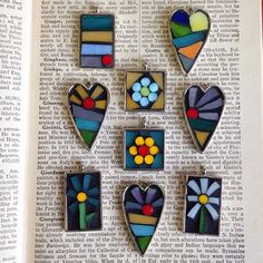 Sweet little mosaic pendants!