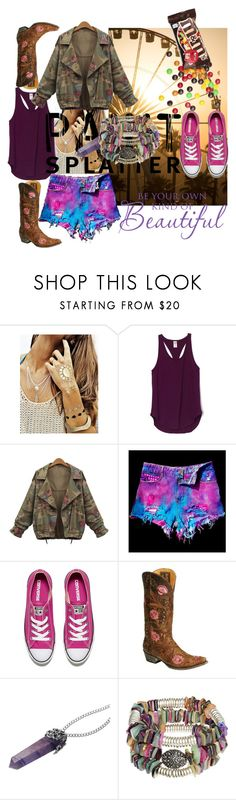 """MANCHAS 5"" by silviaracchi ❤ liked on Polyvore featuring Flash Tattoos, WithChic, Converse, Hipchik and paintsplatter"