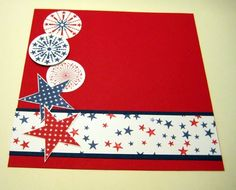 This July Fourth set is so easy to work with that this was one of my quicker scrapbook pages.  It's not hard to decide on colors so you save...