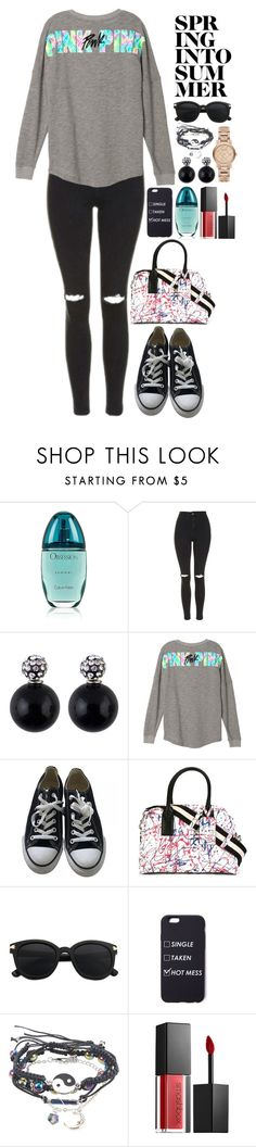 """""""Spring into Summer"""" by beckythehobbit on Polyvore featuring Calvin Klein, Topshop, Converse, Marc Jacobs, Smashbox, Burberry and Summer"""