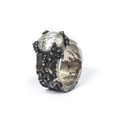 Sarah Kobak-Silver ring with granulation