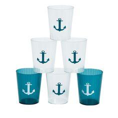 Nautical Plastic Shot Glasses
