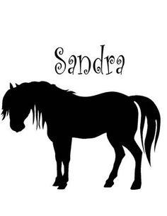 Horse decalPersonalizedHorse stickerPonyVinyl by aluckyhorseshoe