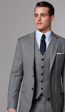 casual gray grey groom groomsman plaid suit vest  clothing men suits