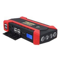 89800mAh12V4USBCoche Jump Starter Pack Booster Charger Batería Juego de banco de potencia