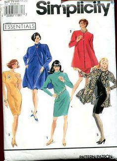 Simplicity 7569  Dress & Coat