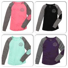 Preppy Patch Long Sleeve Monogram Shirt ~ Long Sleeve Monogrammed Shirt ~ Super Cute and Comfy ~ Great Gift Idea ~ Back to School by SimplyStephsMonogram on Etsy https://www.etsy.com/listing/255577866/preppy-patch-long-sleeve-monogram-shirt