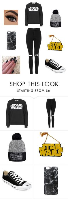 """"""""""" by niyyya ❤ liked on Polyvore featuring Topshop, Chicnova Fashion, Converse and Casetify"""