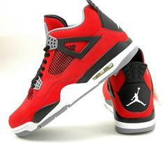 huge discount 10fc5 f30a9 Nike Air Jordan 4 Retro IV Toro Bravo Fire Red 308497-603 Nubuck 2013 Ship  Today