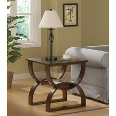 Measures 24 inches wide x 22 inches deep x 24.625 inches high  Bentwood End Table | Overstock.com Shopping - The Best Deals on Coffee, Sofa & End Tables
