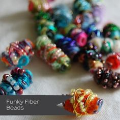 Fibre beads tutorial - different approach to anything else I've seen - based on step 1. Wrap wire around straw... Clever