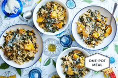 Baked Risotto with Butternut Squash and Kale