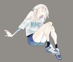 poses reference character anime laying head kneeling hannah brown sitting characters manga