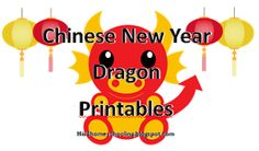 Chinese New Year Dragon Printables
