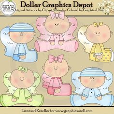 Baby Angels 1 - Clip Art - $1.00 : Dollar Graphics Depot, Quality Graphics ~ Discount Prices