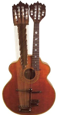 Harp Guitar (Bohmann) 1910...what?! where has this been all my life?