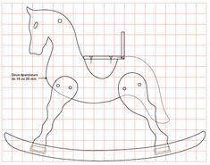Salincak Swing At Horse Rocker Unicorn Rocking Horse, Rocking Horse Plans, Wood Rocking Horse, Wooden Horse, Easy Craft Projects, Wood Projects, Woodworking Projects, Wood Toys Plans, Wood Games