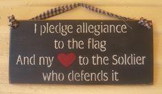 I pledge allegiance soldier sailor airman by signsofpatriotism08, $7.95