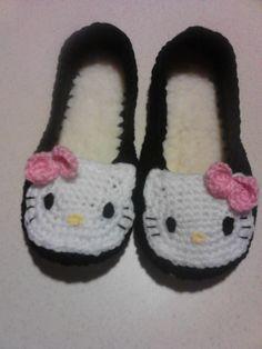 pantunflas de Hello Kitty