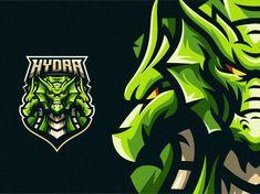 Hydra by Tri Suseno Ari Wibowo on Dribbble Logo Dragon, Esports Logo, Logo Design, Graphic Design, Time Design, Game Logo, Silver Spring, Logo Images, Badge