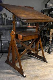 table a dessin ancienne Darnay vers 1900 en bois
