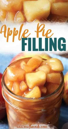 Apple Pie Filling - Easy and homemade apple pie filling for your apple pies, ice cream, cookies and all of your fall treats and autumn desserts. This apple pie filling is easy as pie and done in less than 15 minutes. Apple Pie Bars, Best Apple Pie, Homemade Apple Pie Filling, Apple Filling, Apple Pie Recipes, Apple Desserts, Cookie Recipes, Autumn Desserts, Gluten Free Apple Pie