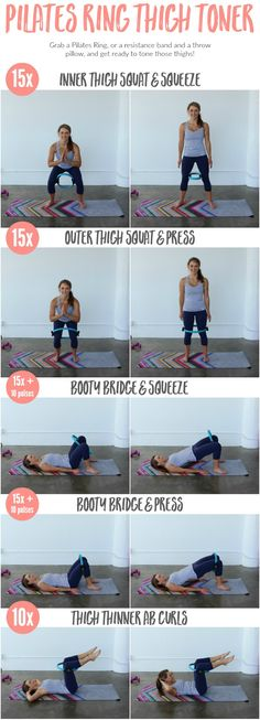 Thinner thighs and a firmer booty are yours with this Pilates ring leg workout!