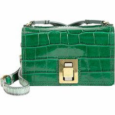 Croc-Embossed Extra-Small Box Bag