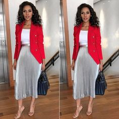 Latest Corporate Attire for the Week Casual Work Outfits, Office Outfits, Classy Outfits, Chic Outfits, Office Wear, Casual Wear, Woman Outfits, Ladies Outfits, Office Uniform