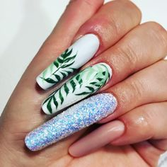My new Palm nails🌿🌿🌿