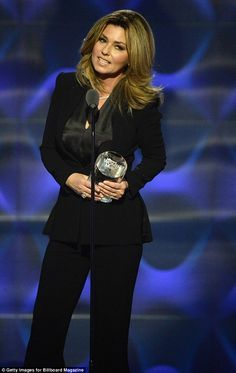 Ageless beauty: Shania Twain looks far younger than her 51-years at the Billboard Women In Music celebration at NYC's Pier 36 Friday