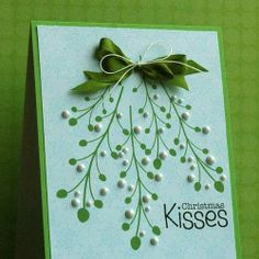 Easy DIY Holiday Crafts - Mistletoe - Click pic for 25 Handmade Christmas Cards Ideas for Kids