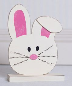 Loving this Bunny Block Sign on #zulily! #zulilyfinds