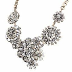 Amazon.com: Jane Stone New Luxurious Necklace Mixed Color Vintage Costume Jewelry Bib Statement Necklace Crystal Bridal Jewelry Rhinestone C...