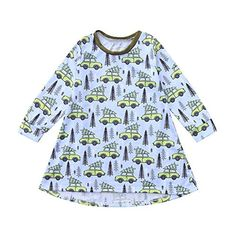 9631ee80 Hatoys Dress Toddler Baby Girls Cartoon Forest Trees Cars Print Dress  Outfits Clothing -- Star. Halloween Costumes Best