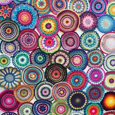 Yarndale 2015 mandala display  #yarndale #yarndale2015 #attic24 #crochet…