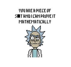 Free Rick Sanchez Cross Stitch Pattern Rick and Morty by Cross Stitch Quest