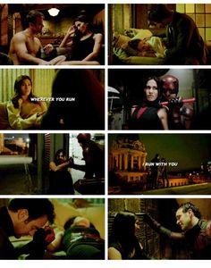 Matt and Elektra Wherever you run I run with you Daredevil season 2
