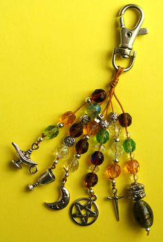 NEW Handbag Charm - Pagan, Wiccan, Witch, Keyring  You can make this, too!