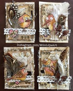Love this use of Tim Holtz's crazy birds!