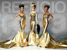 Barbie Ooak doll by David Bocci for Refugio Rosa | Gold Treasure (Ooak)
