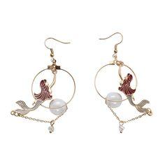 c4ab26835 Mermaid Earrings. Shape PatternsFemale ModelsTypes Of MetalPendant Jewelry MermaidsGirl ...