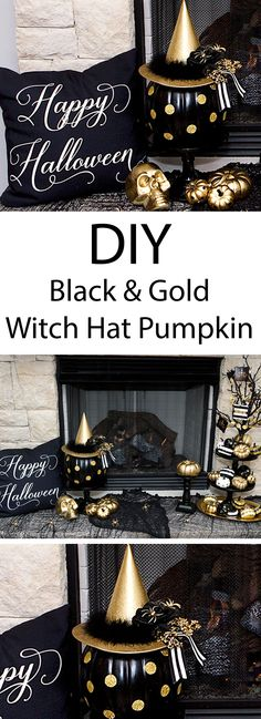 DIY Witch Hat Pumpki