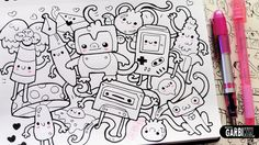 Follow the Monkey! - Hello Doodles - Easy and Kawaii Drawings by Garbi KW