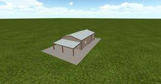 3D #architecture via @themuellerinc http://ift.tt/2bzcsq1 #barn #workshop #greenhouse #garage #DIY
