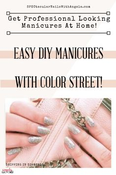 Listen, if you're like me painting your nails can turn from a  treat into a chore. You have to wait for each coat to dry. You're worried about smudging your nails. Save MONEY and TIME with Color Street's easy DIY process. It's the easiest manicure you'll ever do. They apply just like stickers and last for up to 10 days! When's the last time you're professional manicure did that? Mauve Nail Polish, Mauve Nails, Peach Nails, Manicure At Home, Diy Manicure, Diy Nails, Manicures, French Tip Manicure, Nail Length